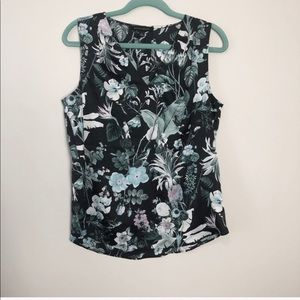 Banana Republic Tropical Sleeveless Blouse